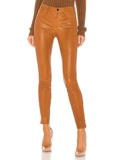 J Brand L8001 Leather Mid Rise Skinny Pant