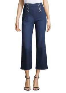 J Brand Lace-Up Denim Culottes