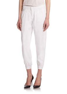 J BRAND Le Baggie Relaxed-Fit Twill Cropped Pants
