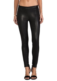 J Brand Lamb Leather Pull Up Legging in Black. - size L (also in XS,S,M)