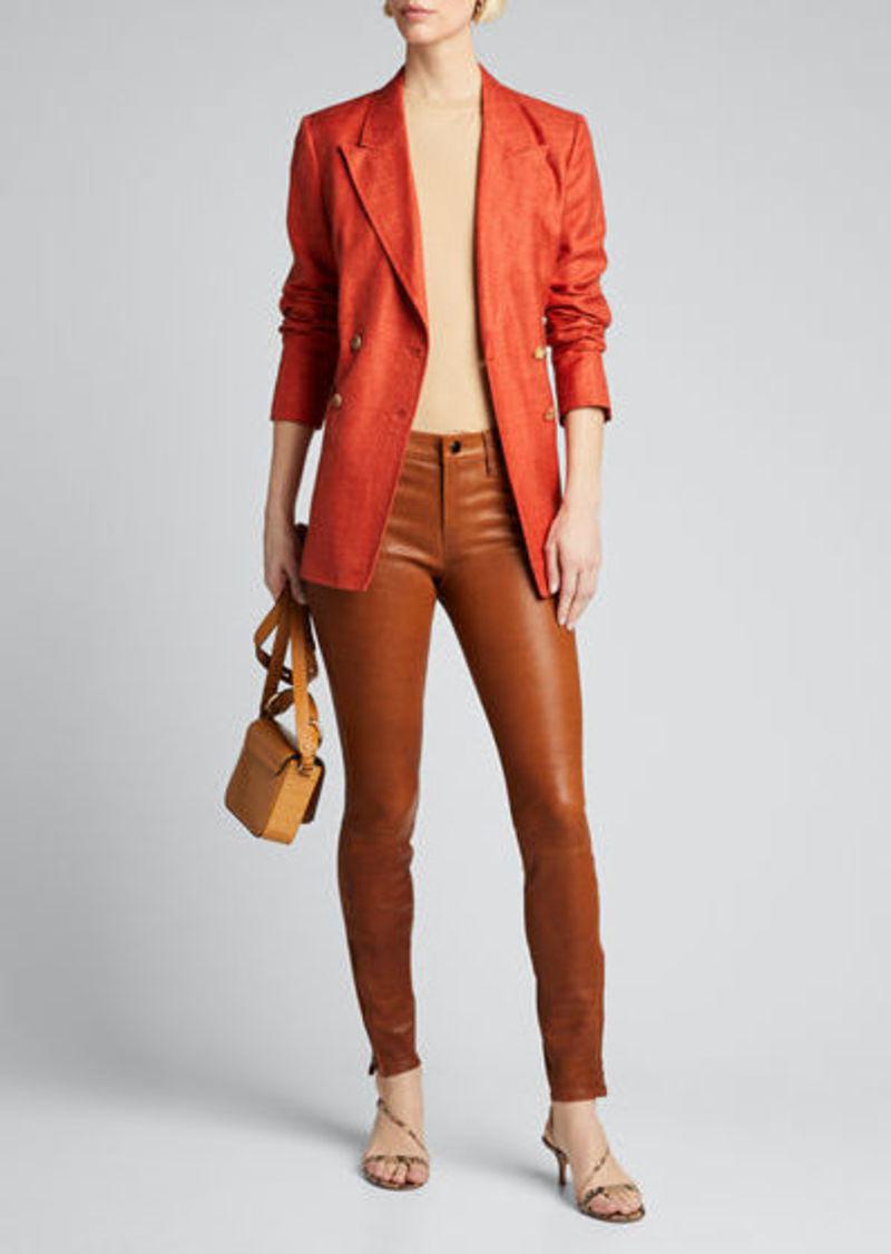 J Brand Leather Super Skinny Pants