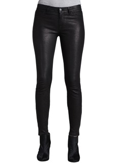 J Brand Leather Super Skinny Pants  Noir