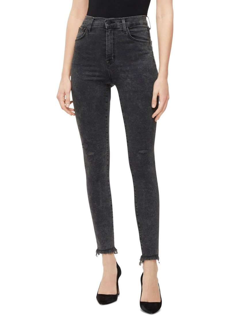 J Brand Leenah High-Rise Ankle Jeans in After Hours Destruct