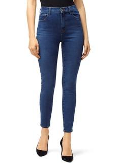 J Brand Leenah Super High Waist Raw Ankle Skinny Jeans (Cyber)