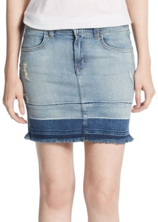 J BRAND 7036 Lela Distressed Denim Skirt