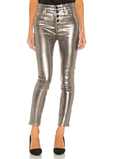 J Brand Lillie Coated High Rise Crop Skinny