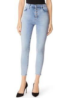 J Brand Lillie High-Rise Cropped Skinny Jeans w/ Button Fly