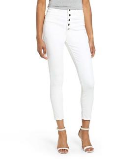 J Brand Lillie High Waist Crop Skinny Jeans (Coated Bubble)