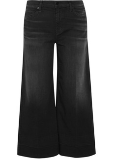 J Brand Liza cropped mid-rise wide-leg jeans