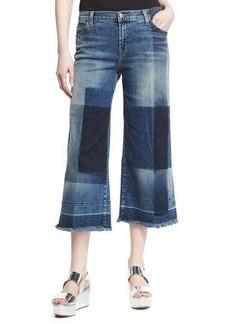 J Brand Liza Mid-Rise Cropped Culottes