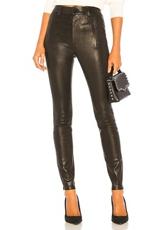 J Brand Lora Super High Rise Leather Skinny