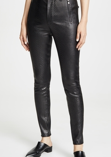 J Brand Lora Super High Rise Leather Skinny Pants