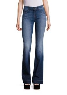 J BRAND Lovestory Medium Wash Flared Hem Jeans
