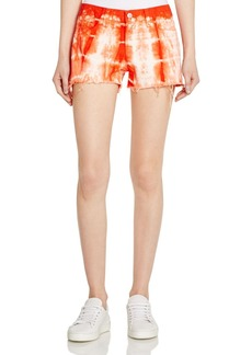 J Brand Low Rise Cutoff Shorts in Tie-Dyed Cherry Tomato