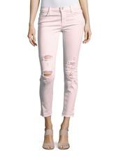 J BRAND Low Rise Distressed Skinny Jeans