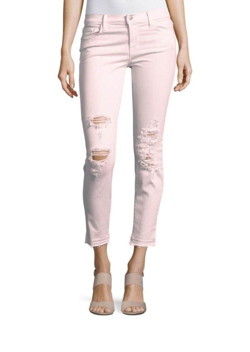 J BRAND Low Rise Distressed Skinny Jeans