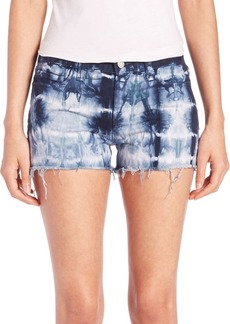 J BRAND Low-Rise Photo Ready Tie-Dye Cut-Off Shorts