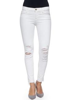 J Brand Low-Rise Skinny Crop Jeans