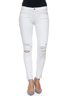J Brand Low-Rise Skinny Crop Jeans