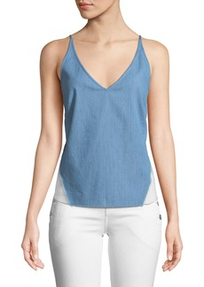 Lucy V-Neck Chambray Cami Top