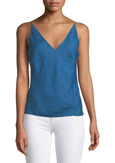 J Brand Lucy V-Neck Linen Camisole