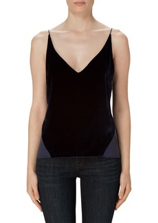 J Brand 'Lucy' Velvet Front Camisole