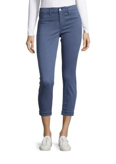 J BRAND Luxe Sateen Anja Ankle Cuff Jeans