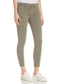J Brand Luxe Sateen Anja Cuffed Crop Jeans in Castor Grey