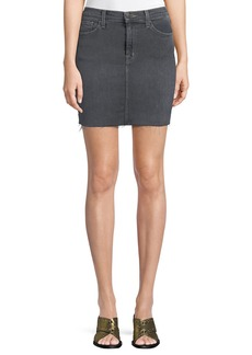 J Brand Lyla Frayed Denim Mini Skirt