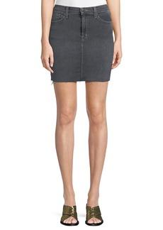 J Brand Lyla Frayed Denim Mini Skirt
