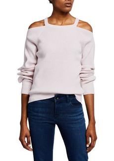 J Brand Mackenzie Cold-Shoulder Cashmere Sweater