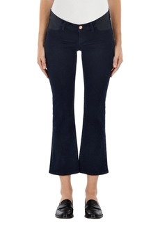 J Brand Mama J Selena Crop Bootcut Maternity Jeans (Bluebird)