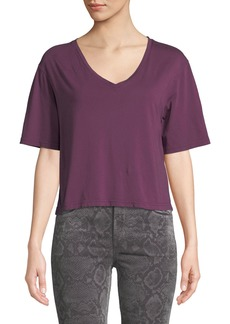J Brand Maria Cropped V-Neck Tee