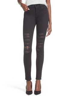J Brand 'Maria' Destroyed High Rise Skinny Jeans (Blackheart)