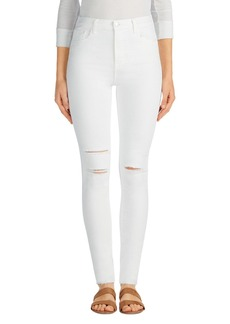 J Brand Maria Destroyed High Rise Skinny Jeans (White Mercy)
