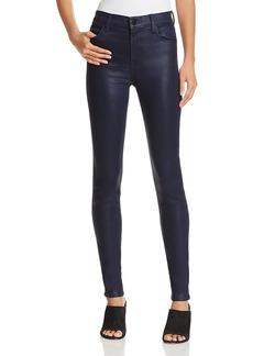 J Brand Maria High-Rise Coated Skinny Jeans
