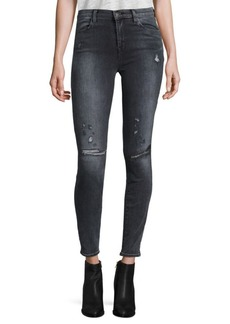 Maria High-Rise Distressed Skinny Jeans