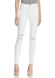 J Brand Maria High Rise Jeans in White Mercy