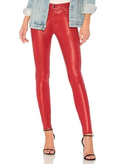 J Brand Maria High Rise Leather Pant in Red. - size 26 (also in 27,28,29,30)