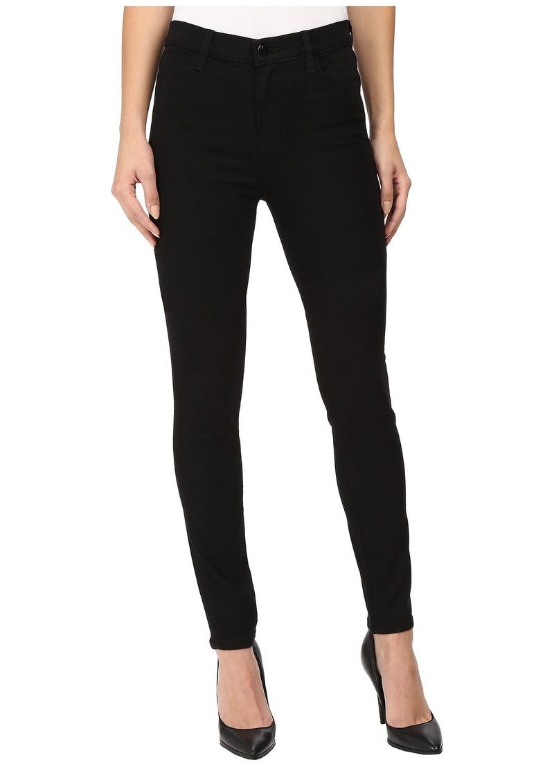 J Brand Maria High-Rise Skinny in Seriously Black