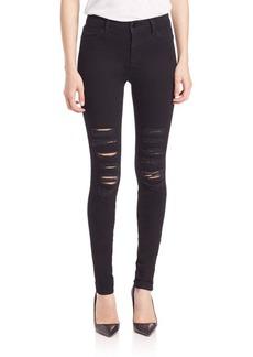 J Brand Maria Distressed Skinny Jeans