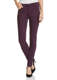J Brand Maria High Rise Skinny Jeans in Aubergine - 100% Exclusive