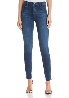 J Brand Maria High Rise Skinny Jeans in Belladonna