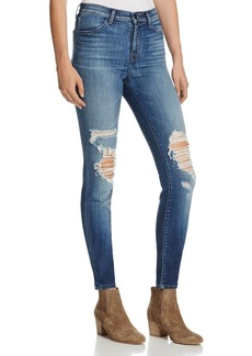 J Brand Maria High Rise Skinny Jeans in Decoy Destruct