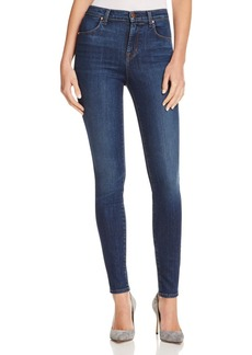 J Brand Maria High-Rise Skinny Jeans in Fleeting