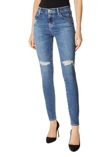 J Brand Maria High-Rise Skinny Jeans in Motion