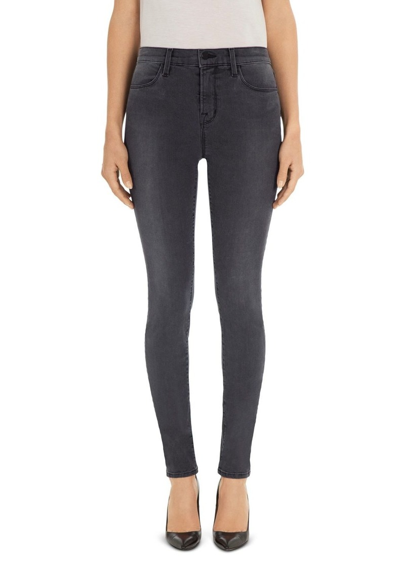 J Brand Maria High-Rise Skinny Jeans in Night Bird