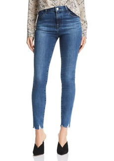 J Brand Maria High-Rise Skinny Jeans in Rising Destruct