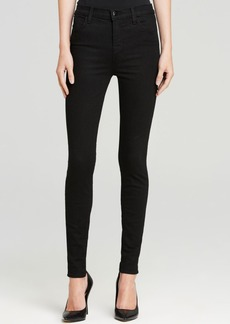 J Brand Maria High Rise Skinny Jeans in Seriously Black