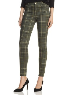 J Brand Maria High Rise Skinny Jeans in Sorrel Plaid - 100% Exclusive